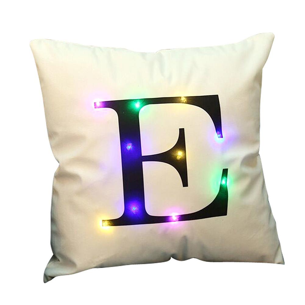 Ke Led Light Up Letter Throw Pillow Case Cushion Cover Room Sofa Home Decor N Indian South Asian Home Décor Pillows Home Garden