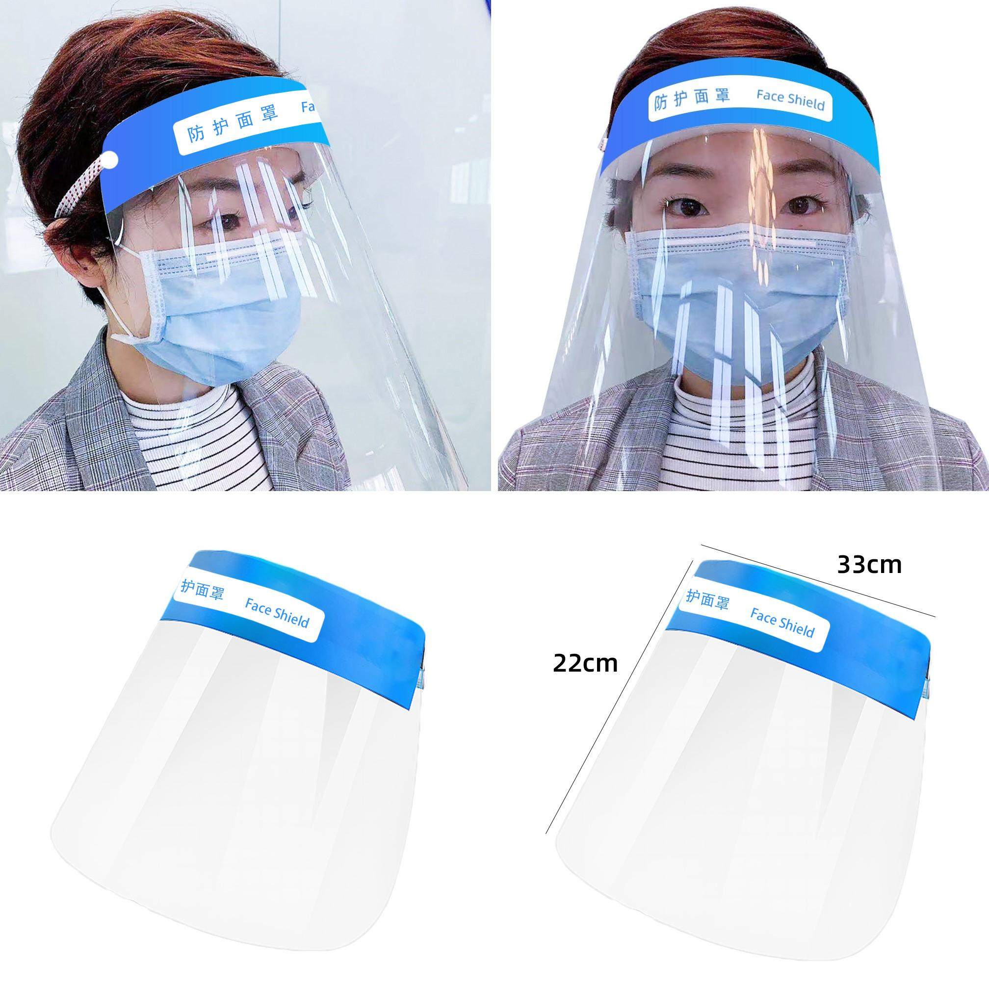 Full Face Covering Dust-proof Safety Shield Tool Mask Clear